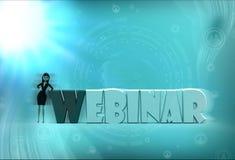 3d woman webinar illustration Royalty Free Stock Image