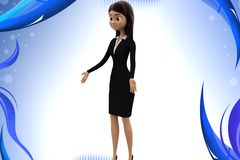 3d character welcoming illustration Royalty Free Stock Photo