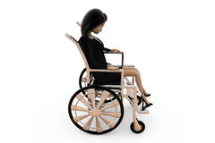 3d woman on wheel chair concept Stock Image