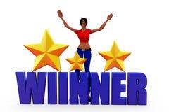 3d woman winner concept Stock Photo