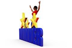3d woman winner concept Stock Image