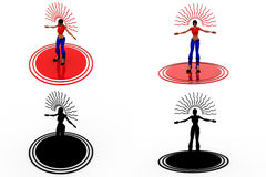 3d woman wireless concept collections with alpha and shadow channel Royalty Free Stock Images