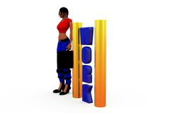 3d woman work concept Stock Photo