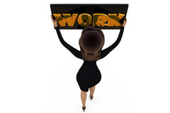 3d woman work concept Royalty Free Stock Image