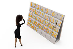 3d woman worker concept Royalty Free Stock Images