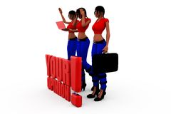 3d  woman your opinion concept Royalty Free Stock Photo