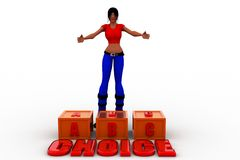 3d women abc choice Royalty Free Stock Photo