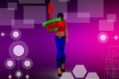 3d women aim illustration Stock Photos