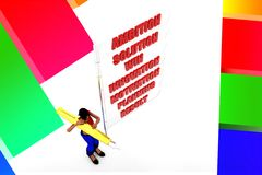3D women ambition motivation win result illustration Royalty Free Stock Photos