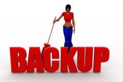 3d women Backup Illustration Royalty Free Stock Photo