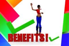 3D women benefits Stock Photos