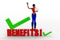 3D women benefits Stock Photography