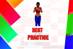 3d women with best practice illustration Stock Photos