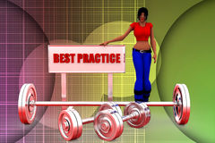 3d women best practice illustration Royalty Free Stock Images