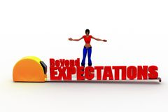 3d women beyond expectations Royalty Free Stock Photography