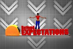 3d women beyond expectations Stock Images