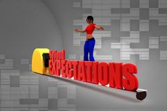 3d women beyond expectations Royalty Free Stock Image
