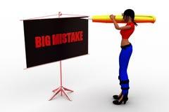 3d women big mistake Stock Image