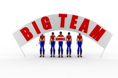 3d women big team concept Royalty Free Stock Photos