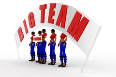 3d women big team concept Stock Photos