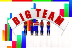 3d women big team illustration Royalty Free Stock Images