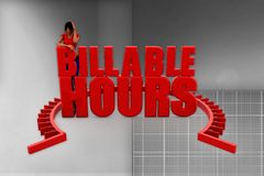 3d women billable hour illustration Stock Photography