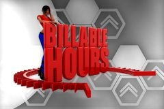 3d women billable hour illustration Royalty Free Stock Images