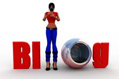 3d Women Blog Concept Stock Images