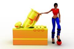 3d women bomb illustration Stock Photos