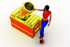 3d women bomb illustration Stock Photo