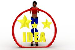 3D women brilliant idea Royalty Free Stock Image