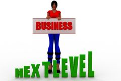 3d women business next level Royalty Free Stock Image