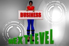 3d women business next level illustration Stock Image