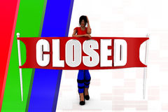 3d women closed Stock Images