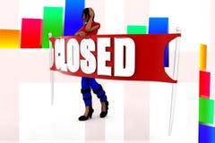 3d women closed illustration Stock Photos