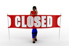 3d women closed Royalty Free Stock Photos