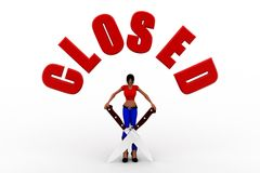 3d women closed Stock Photo