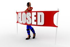 3d women closed Stock Photos