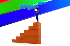 3d women Cloud Network Illustration Stock Photography