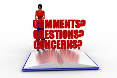3d women comments questions concerns Stock Image