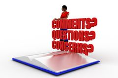 3d women comments questions concerns Royalty Free Stock Images