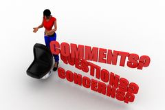 3d Women comments questions  and concerns Royalty Free Stock Images