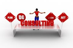 3d women consulting concept Stock Photo