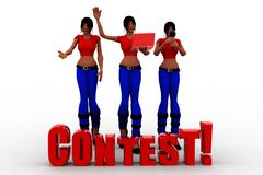 3d women contest concept Royalty Free Stock Images