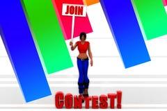 3d women contest illustration Stock Photo