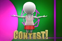 3d women contest illustration Stock Images