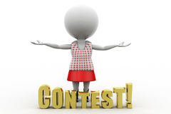3d women contest Stock Photo