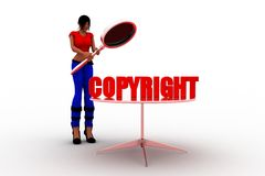 3d Women - copyright sign Royalty Free Stock Image