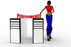 3d women cpu performance Stock Photos