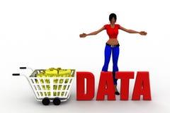 3d women data Stock Photos